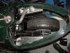 Pohled na uložení zadního kola, odpružení a pohon ozubeným řemenem